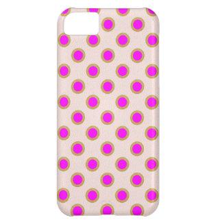 Coque iPhone 5C Matrice de points rose EXOTIQUE : Bijou de motif