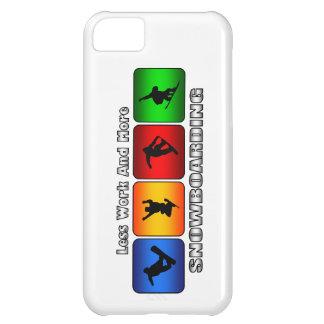 Coque iPhone 5C Moins de travail et plus de snowboarding