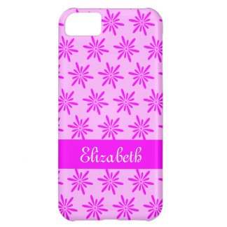 Coque iPhone 5C Motif floral rose lilas - cas nommé de l'iPhone 5c