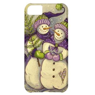Coque iPhone 5C Noël de 4882 bonhommes de neige