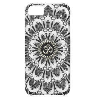 Coque iPhone 5C Noir+iPhone floral blanc 5 de Coque-Compagnon de
