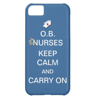 Coque iPhone 5C O.B. Les infirmières gardent le calme+Bleu de ciel