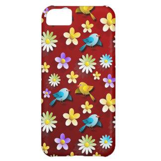 Coque iPhone 5C Oiseaux et fleurs