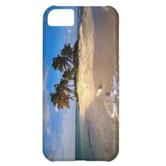 Coque iPhone 5C Petit cas solitaire de l'iPhone 5 d'île