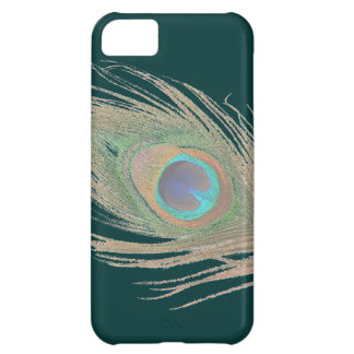 Coque iPhone 5C Plume de paon