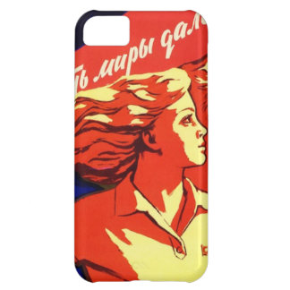 Coque iPhone 5C Propagande communiste vintage russe de l'espace