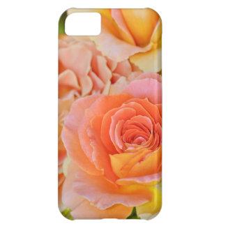 Coque iPhone 5C Rose de thé hybride orange