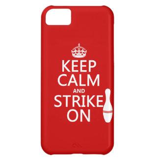 Coque iPhone 5C Roulement - gardez le calme et frappez dessus