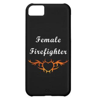 Coque iPhone 5C Tatouage femelle de sapeur-pompier