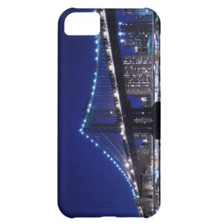 Coque iPhone 5C Und de Manhattanbrücke - nachts d'horizon