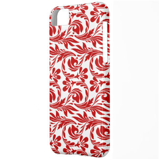 Coque iPhone 5C Vagues, caisse 5c Rouge-Blanche-iPhone