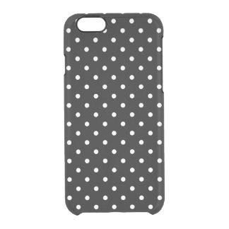 Coque iPhone 6/6S Arrière - plan noir de petit pois blanc