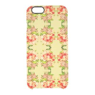 Coque iPhone 6/6S Caisse Girly jaune romantique florale de téléphone