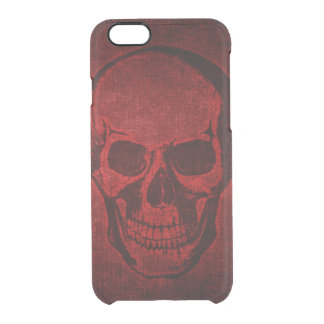 Coque iPhone 6/6S Crâne grunge rouge