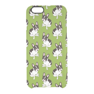 Coque iPhone 6/6S Double bouledogue français pie à capuchon mignon