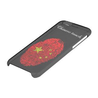 Coque iPhone 6/6S Drapeau d'empreinte digitale de contact de Chinois