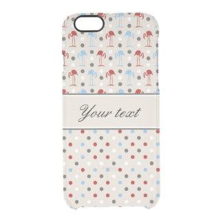 Coque iPhone 6/6S Flamants et pois mignons