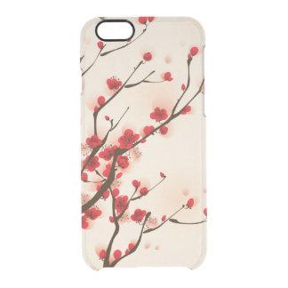 Coque iPhone 6/6S Fleur asiatique de prune de peinture de style au