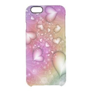 Coque iPhone 6/6S Fractale d'amour d'arc-en-ciel