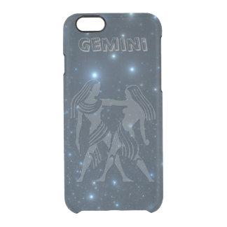 Coque iPhone 6/6S Gémeaux transparents