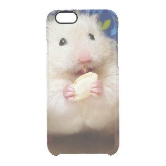 Coque iPhone 6/6S Hamster syrien pelucheux Kokolinka mangeant une