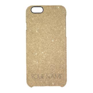 Coque iPhone 6/6S iPhone argenté d'or fascinant nommé personnalisé