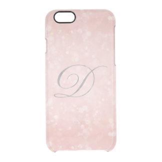 Coque iPhone 6/6S iPhone fascinant argenté de Bokeh de rose en