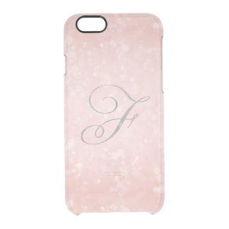 Coque iPhone 6/6S iPhone rose rose fascinant argenté du monogramme F