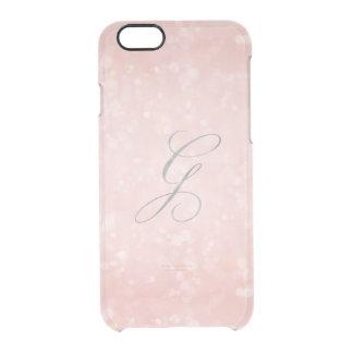 Coque iPhone 6/6S iPhone rose rose fascinant argenté du monogramme G