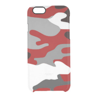 Coque iPhone 6/6S Le rouge ombrage Camo