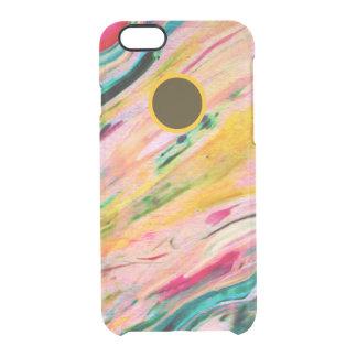Coque iPhone 6/6S Les aquarelles soustraient l'arrière - plan coloré