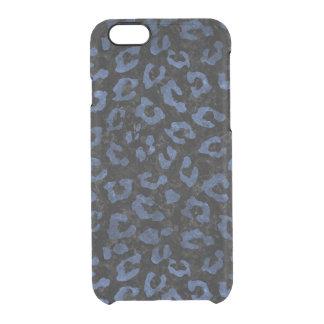 COQUE iPhone 6/6S MARBRE SKIN5 NOIR ET PIERRE BLEUE (R)