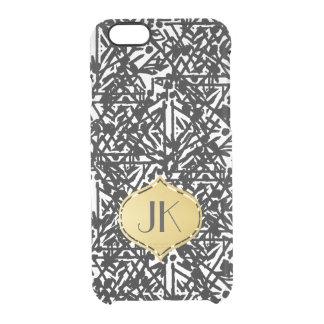 Coque iPhone 6/6S Monogramme de Bohème chic et insouciant d'or
