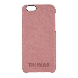 Coque iPhone 6/6S Monogramme simili cuir de Faux rouge simple