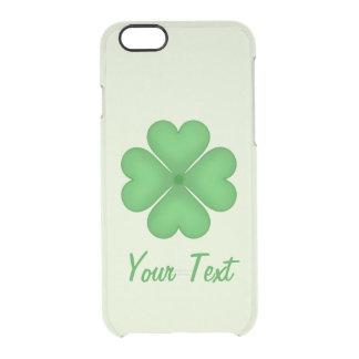 Coque iPhone 6/6S Motif CustomizableSh de coeurs de trèfle de