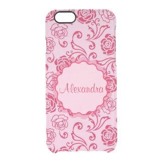 Coque iPhone 6/6S Motif floral de trellis des roses de thé sur le