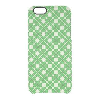 Coque iPhone 6/6S Motif vert de coeurs de trèfle de feuille du