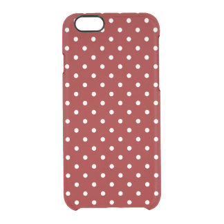 Coque iPhone 6/6S Petit arrière - plan blanc de rouge de pois