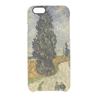 Coque iPhone 6/6S Route de Vincent van Gogh | avec des cyprès, 1890