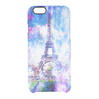 Coque iPhone 6/6S Univers Paris d'arc-en-ciel