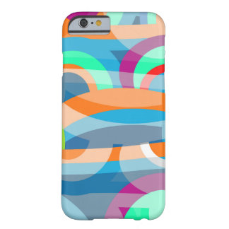 Coque iPhone 6 Barely There Abstraction marine