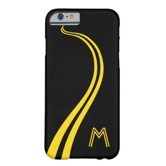 Coque iPhone 6 Barely There Amusement, courbant, ligne Double-Jaune route