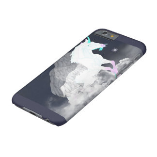 Coque iPhone 6 Barely There Ange de licorne d'imaginaire