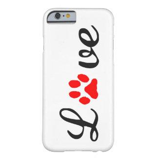 Coque iPhone 6 Barely There animaux familiers d'amour de cas de l'iPhone 6/6s