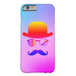 Coque iPhone 6 Barely There Arc-en-ciel de moustaches de coureur de jupons de