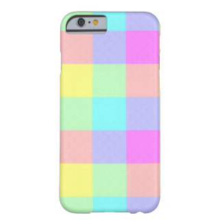 Coque iPhone 6 Barely There Arc-en-ciel en pastel Checkered