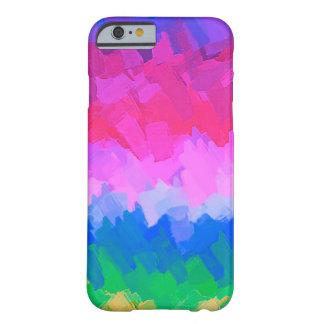 Coque iPhone 6 Barely There Arrière - plan abstrait coloré par pastel #6
