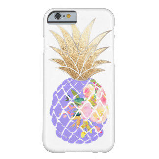 Coque iPhone 6 Barely There Arrière - plan de PixDezines Aloha Pineapples/DIY