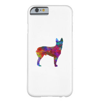 Coque iPhone 6 Barely There Australian Stumpy Tail Cattle Dog in watercolor.pn