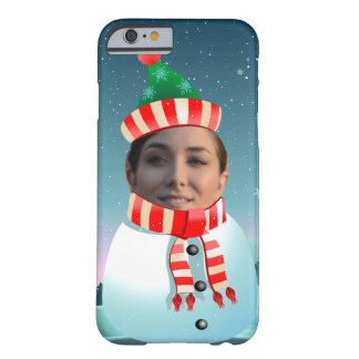 Coque iPhone 6 Barely There Bande dessinée de bonhomme de neige customisée